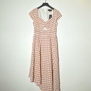 NWT Rust orange checker dress
